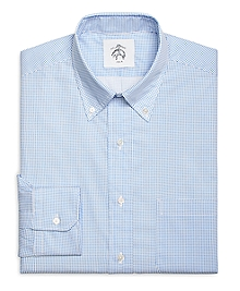 Blue and White Dot Button-Down Shirt