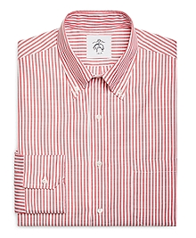Red Stripe Button-Down Shirt