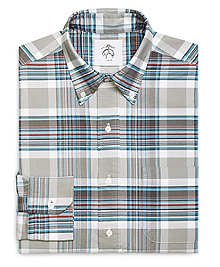 Plaid Button-Down Shirt