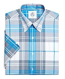 Plaid Short-Sleeve Button-Down Shirt
