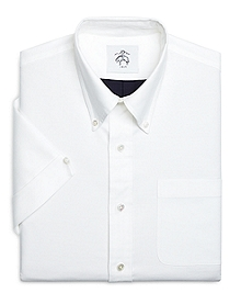 Stripe Back SHORT-SLEEVE Button-Down Shirt