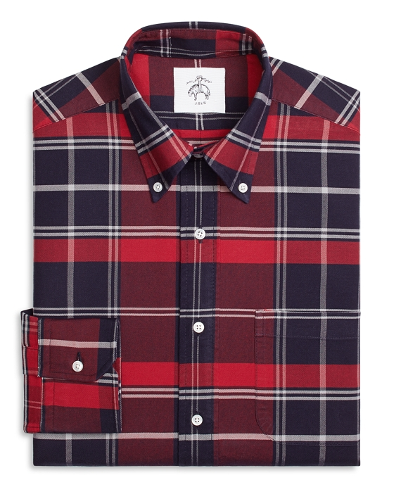 Signature Tartan Button-Down Shirt Red-Navy