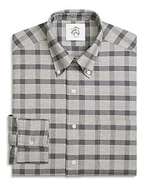 Box Plaid Button-Down Shirt
