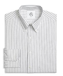 Three-Color Stripe Button-Down Shirt