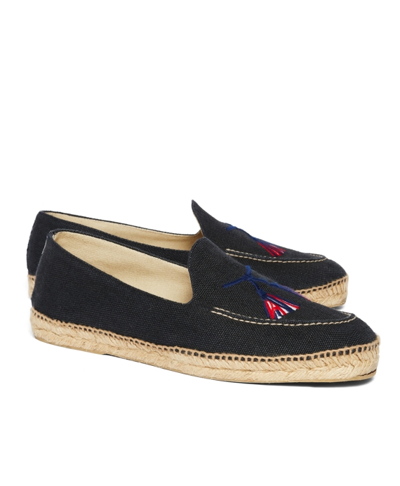 STUBBS AND WOOTTON FOR BLACK FLEECE ESPADRILLES Navy