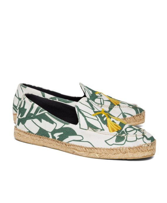 STUBBS AND WOOTTON FOR BLACK FLEECE ESPADRILLES White-Green