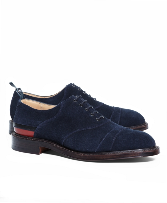 SUEDE STRIPE SHOES Navy