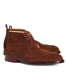 Preforated Wingtip Ankle Boots