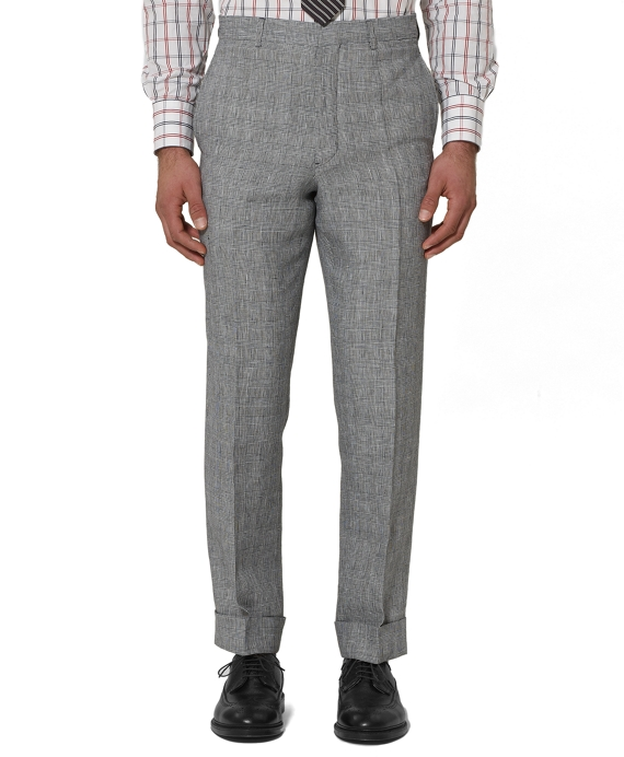 Linen Belt Loop Trousers Navy