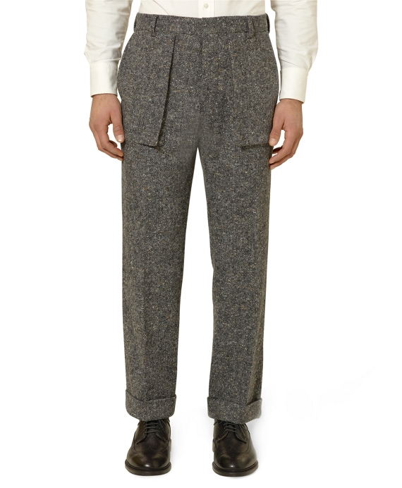 Bellows Patch Trousers Grey-White
