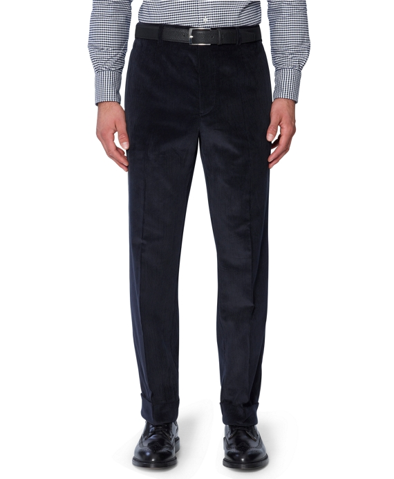 Corduroy Belt Loop Trousers Navy