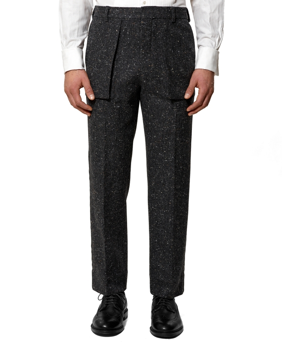 Bellows Patch Trousers Charcoal