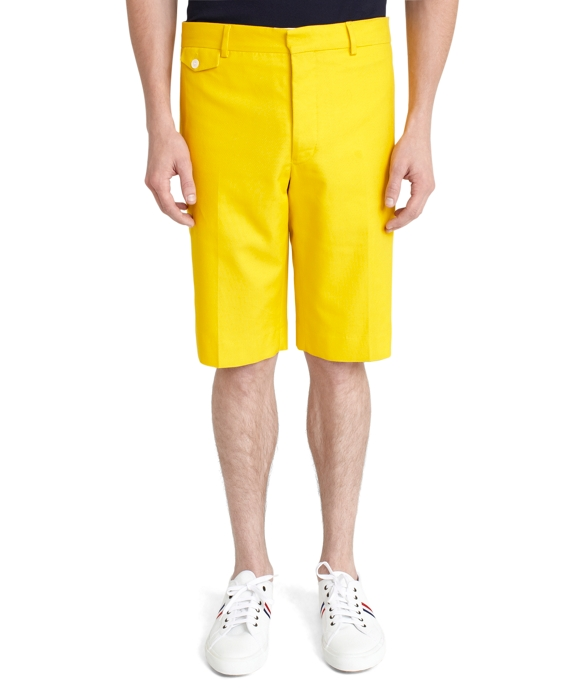 Coin Pocket Bermuda Shorts Yellow