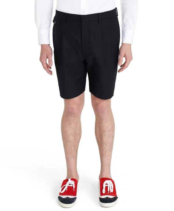 Watch Pocket Pique Shorts Navy