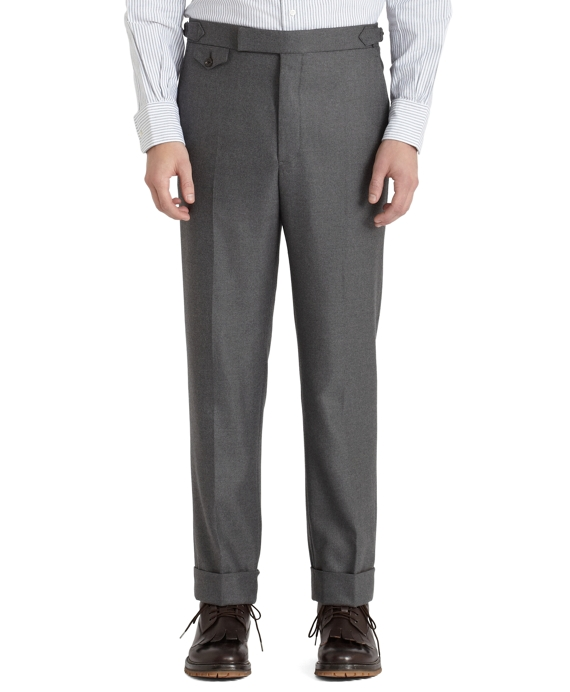 Wool Twill Watch Pocket Trousers Grey