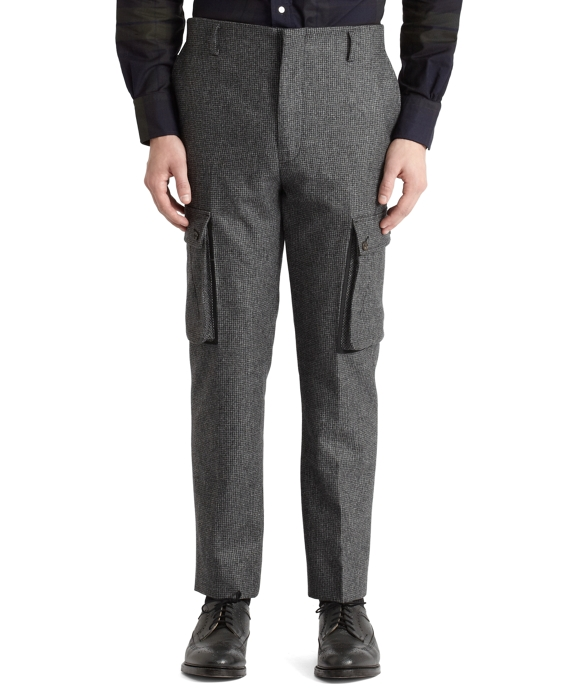 Houndstooth Cargo Pants Grey-Black