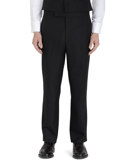 Wool Twill Tuxedo Trousers Black