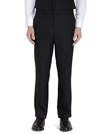 Wool Twill Tuxedo Trousers