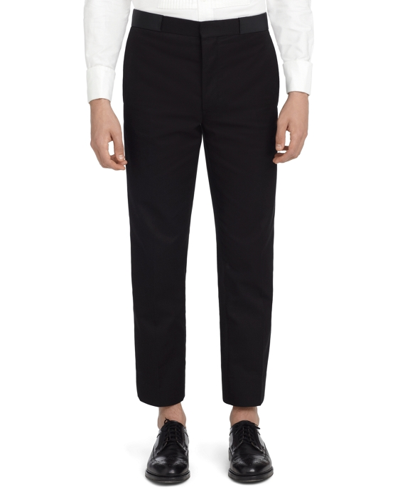 BLACK PIQUE TROUSERS Black