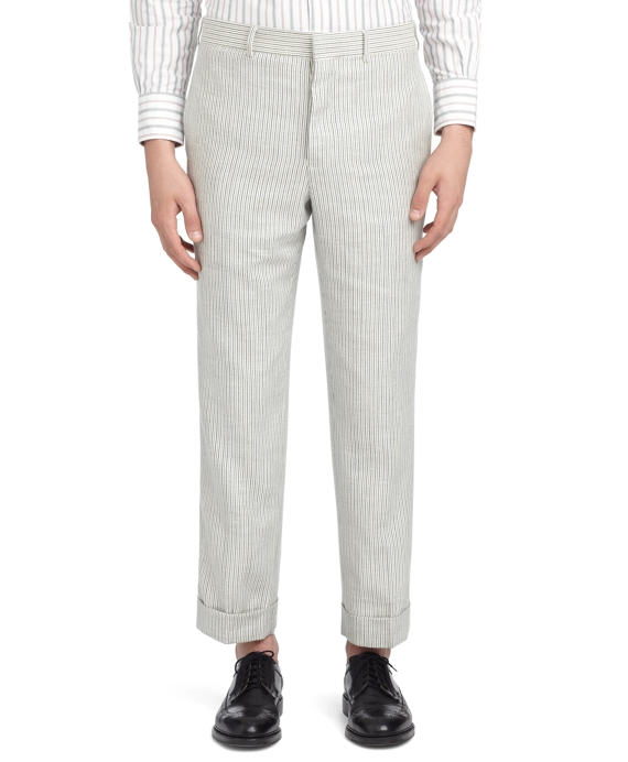 WHITE WITH BLUE STRIPES TROUSERS White-Blue