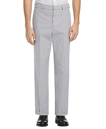 SEERSUCKER BELT LOOP TROUSERS