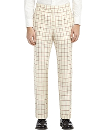 WINDOWPANE TAB TROUSERS