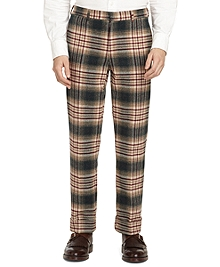 Green Plaid Belt Loop Trousers