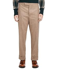 Khaki Flannel Belt Loop Trousers