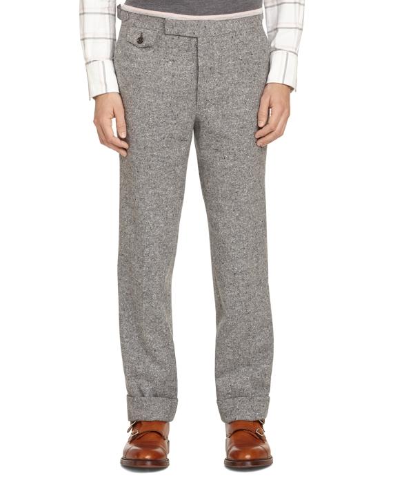 Grey Donegal Tweed Tab Trousers Grey