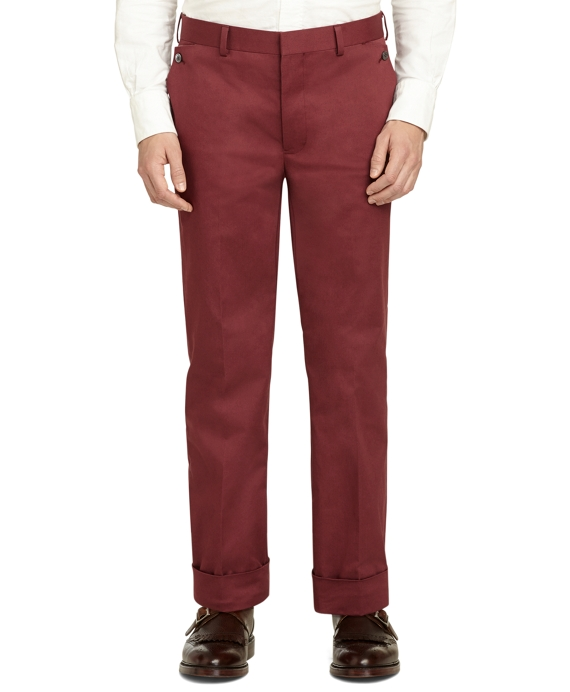 Burgundy Belt Loop Trousers Burgundy