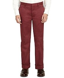 Burgundy Belt Loop Trousers