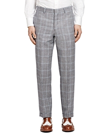 Plaid Belt Loop Trousers