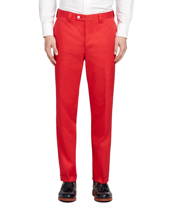 Belt Loop Trousers Red