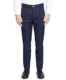Five-Pocket Cotton Canvas Trousers
