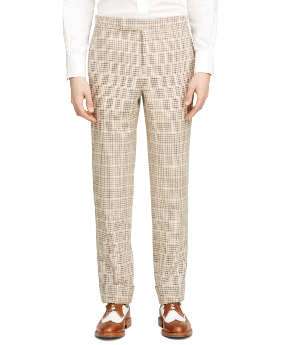 Check Tab Trousers Brown