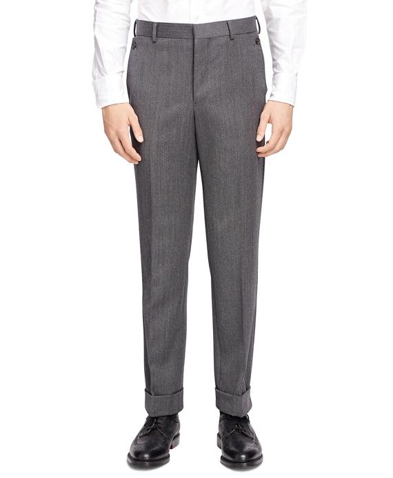 Wool Twill Belt Loop Trousers Grey