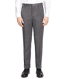 Wool Twill Belt Loop Trousers