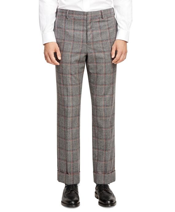 Plaid Belt Loop Trousers Grey
