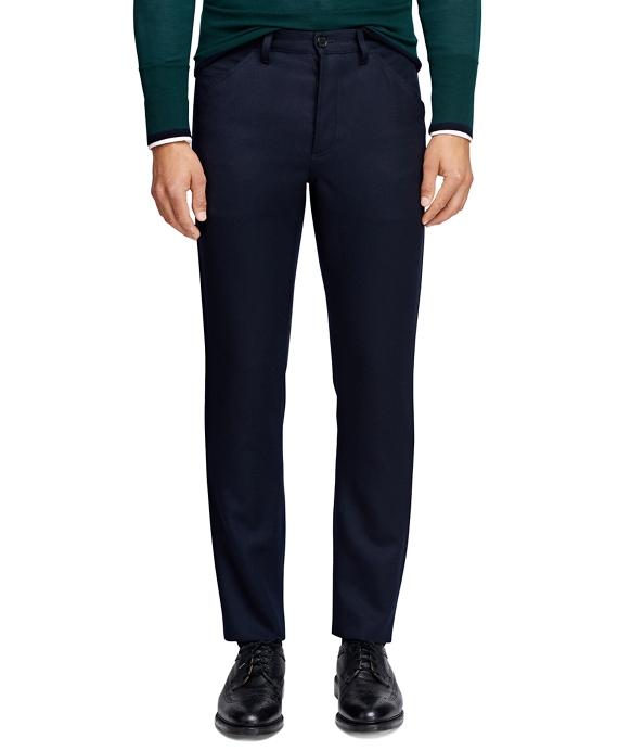 Five-Pocket Calvary Twill Trousers Navy