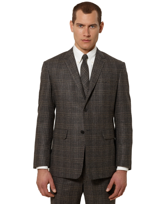 Black Fleece Plaid Classic Suit Grey-Brown