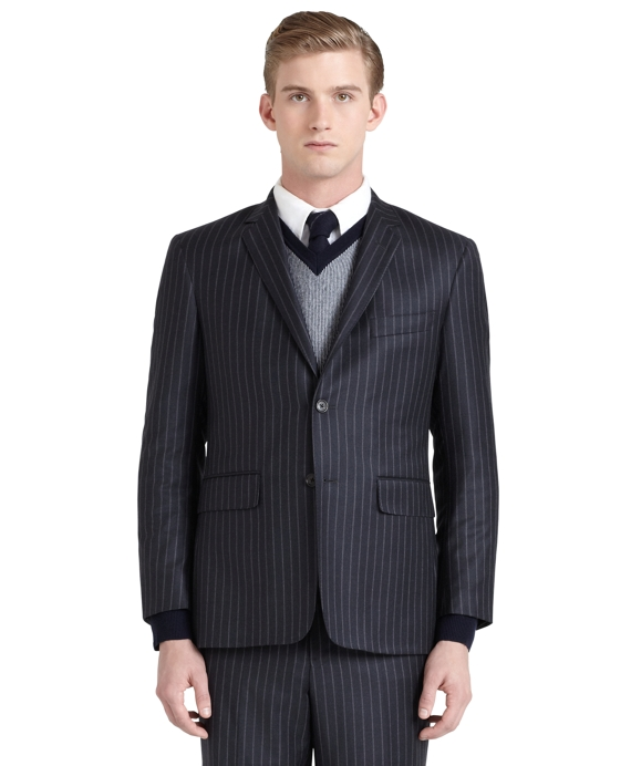 Pinstripe Classic Suit Grey-Brown