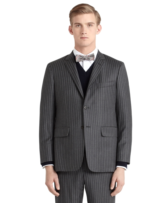 Herringbone Darted Suit Grey