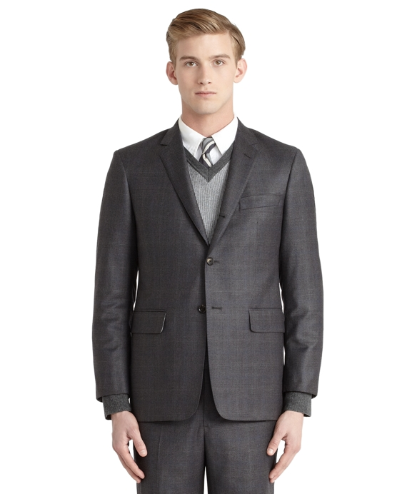 Plaid Darted Suit Grey-Blue