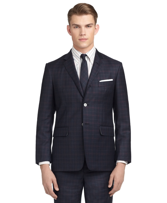 PLAID DARTED SUIT Navy