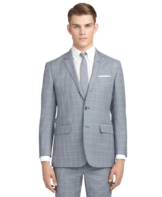 TONAL PLAID SUIT Blue