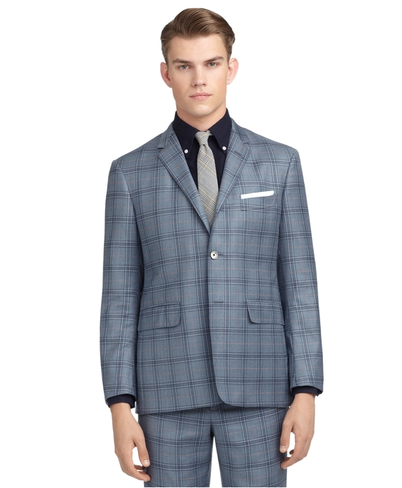 BLUE & RED PLAID CLASSIC SUIT Blue Multi