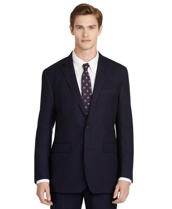 Wool Pinstripe Suit Navy