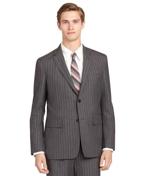 Pinstripe Classic Suit Grey