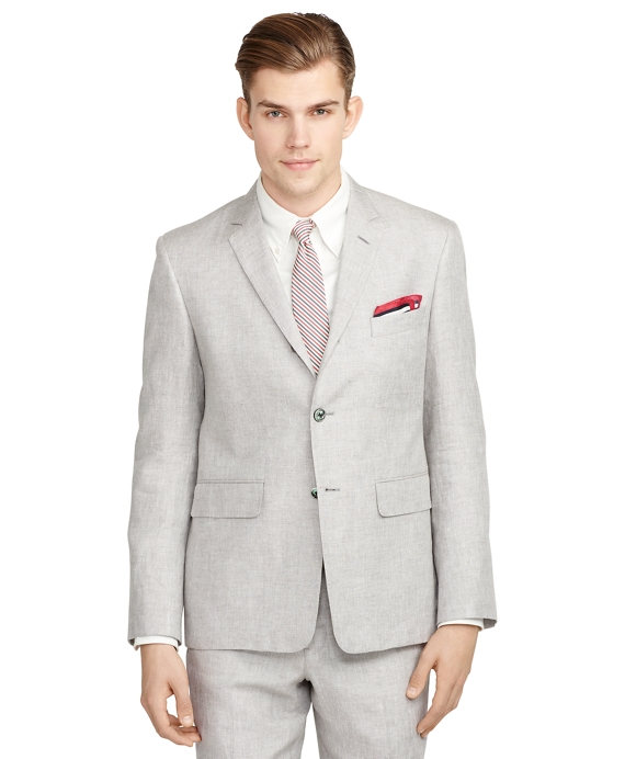 Linen and Silk Suit Grey