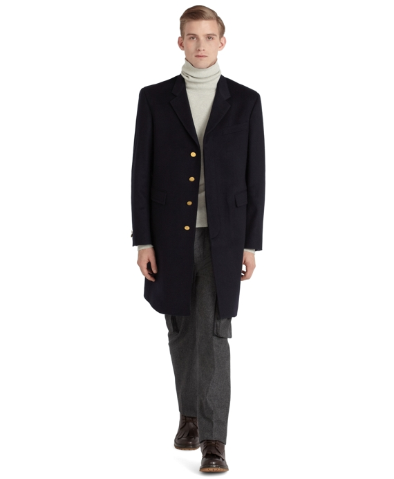 Cashmere Chesterfield Overcoat Navy